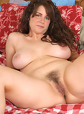 hairy bush, Cute as a button MILF with nice tits and a furry pussy