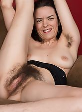 hairy divas, Lucia strips from black dress to play alone
