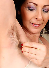 Hot and hairy pussy and pits on gorgeous 50 year MILF old Anna