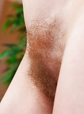 hairy armpits, Hairy girl Josselyn shows her hairy pussy off