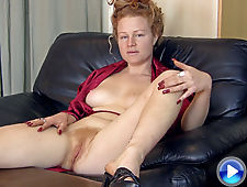 A very sexy interview with redhead Mona Jones